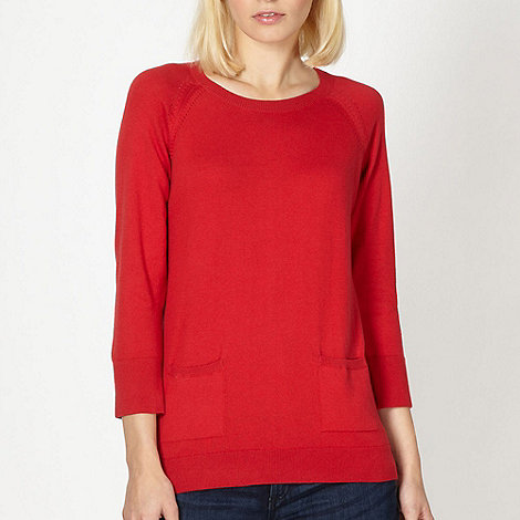 Red Herring - Red two pocket jumper