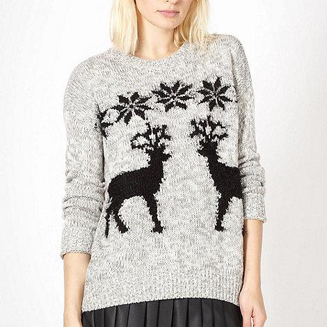 Red Herring - Grey reindeer jumper