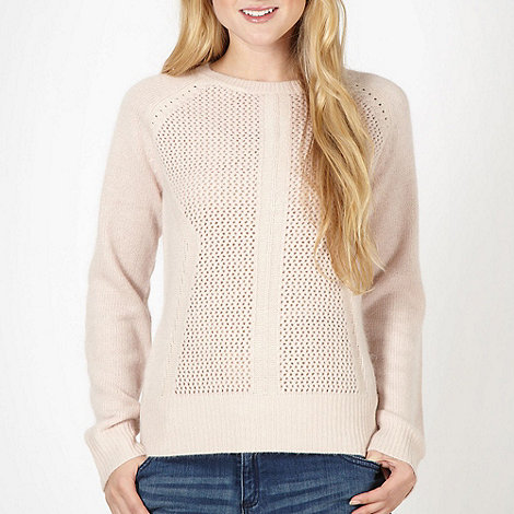 Red Herring - Pale pink pointelle knit jumper