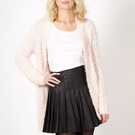 Red Herring - Pale pink textured cardigan