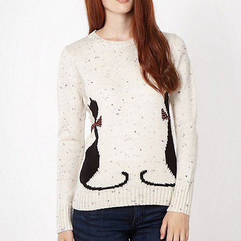 Red Herring - Natural mirror cat jumper