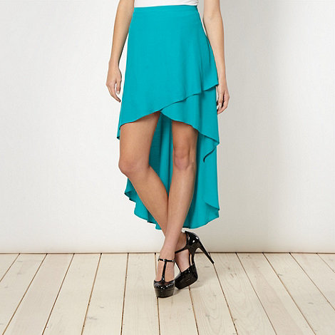 Red Herring - Turquoise asymmetric skirt