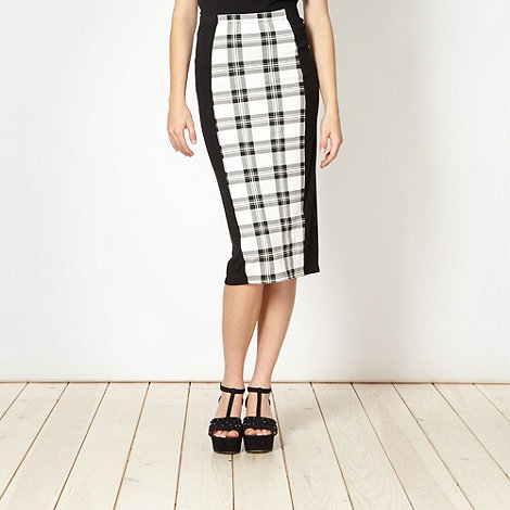 Red Herring - Black tartan panelled skirt