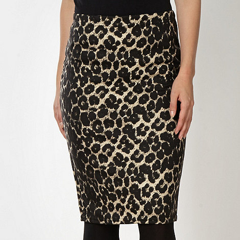 Red Herring - Leopard print jersey pencil skirt