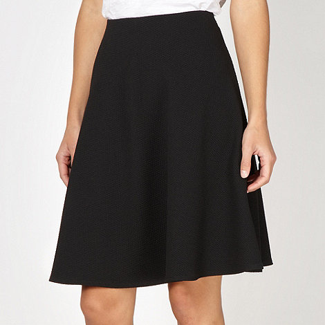 Red Herring - Black textured full circle skirt