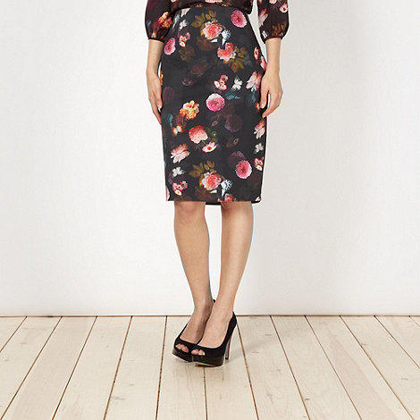 Red Herring - Black flower and butterfly skirt
