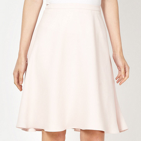 Red Herring - Pale pink crepe flared skirt