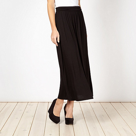 Red Herring - Black jersey maxi skirt