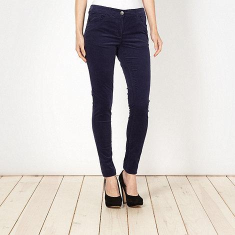 Red Herring - Navy skinny cord trousers