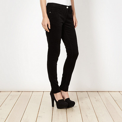 Red Herring - Black skinny cord trousers