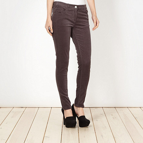 Red Herring - Pale grey skinny cord trousers