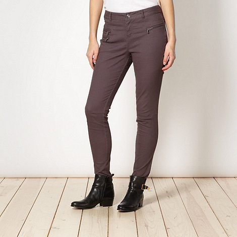 Red Herring - Dark grey slim fit trousers