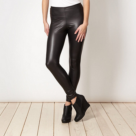 Red Herring - Black wet look leggings
