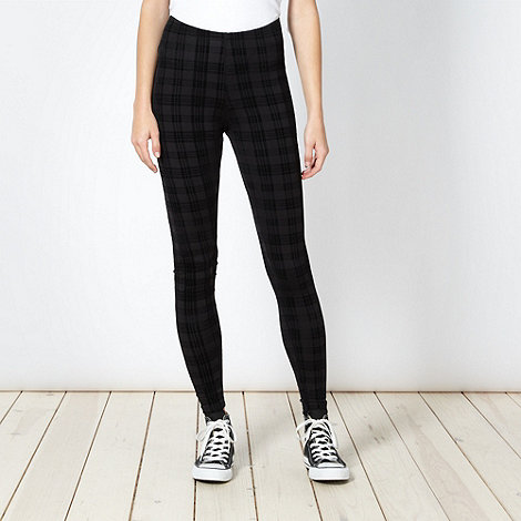 Red Herring - Black checked leggings