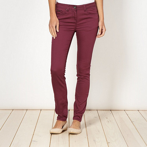 Red Herring - Dark red +Holly+ super skinny jeans