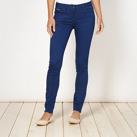 Red Herring - Bright blue +Holly+ super skinny jeans