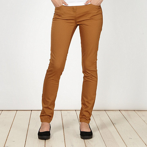 Red Herring - Tan +Holly+ super skinny jeans