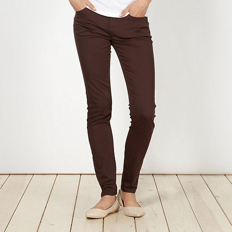 Red Herring - Brown +Holly+ super skinny jeans