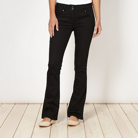Red Herring - Black super shaper bootcut jeans