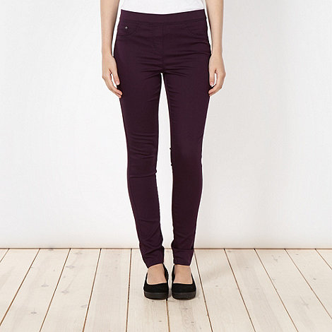 Red Herring - Dark purple skinny +Georgia+ jeggings