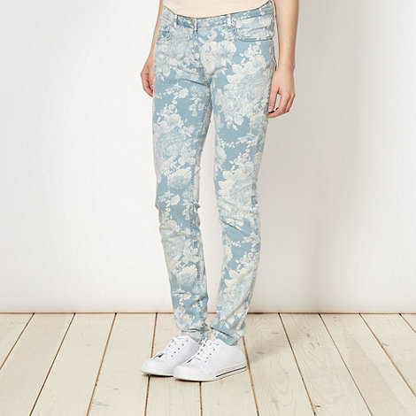 Red Herring - Blue floral skinny jeans