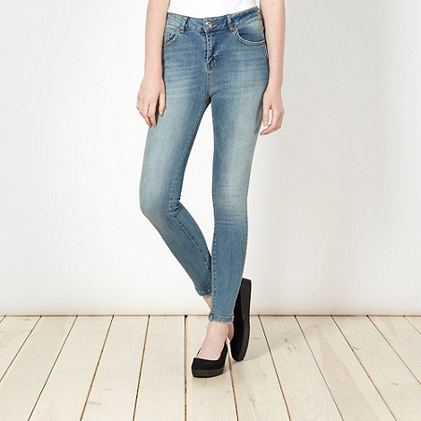Red Herring - Blue washed +Heidi+ high waisted skinny jeans