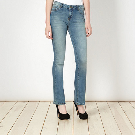 Red Herring - Blue washed super shaper bootcut jeans