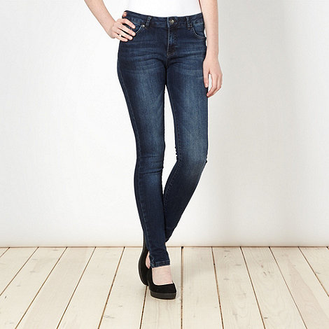 Red Herring - Dark blue washed super shaper super skinny jeans