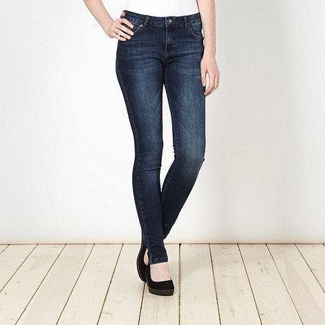 Red Herring - Dark blue washed super shaper super skinny jeans