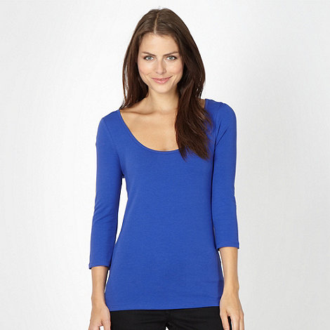 Red Herring - Blue plain jersey top