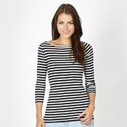 Navy breton striped top