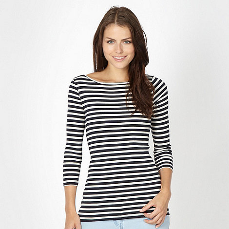 Red Herring - Navy breton striped top