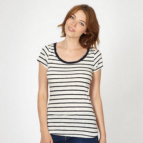 Red Herring - Navy striped twist neck t-shirt