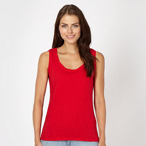 Red Herring - Red twist neck vest
