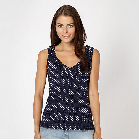 Red Herring - Navy spotted vest
