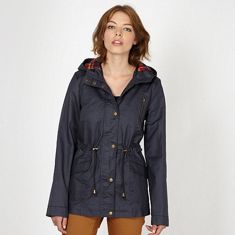 Red Herring - Navy waxed jacket