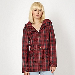 Red Herring - Maroon waxed check jacket