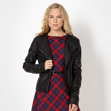Red Herring - Black faux leather jacket
