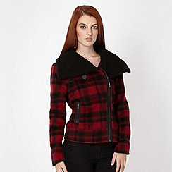 Red Herring - Red checked biker jacket