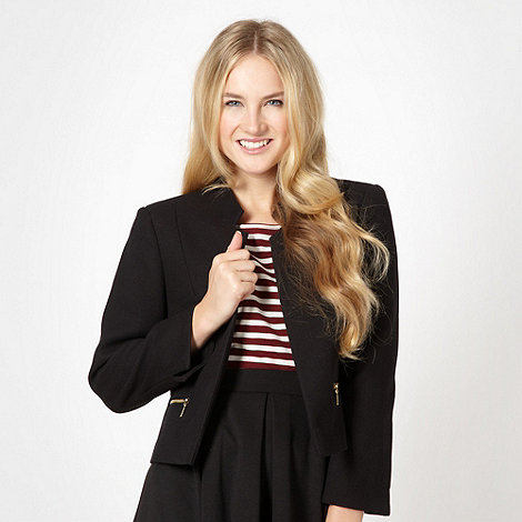 Red Herring - Black pique tailored blazer