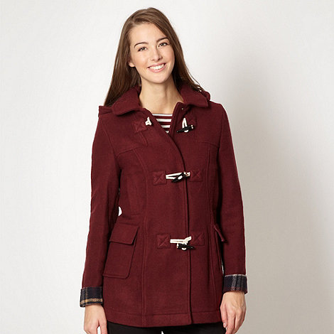 Red Herring - Dark red duffle coat