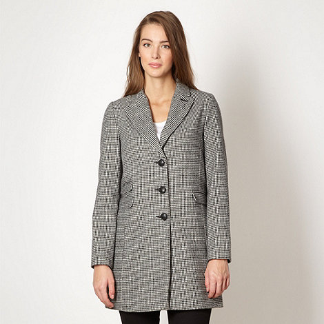 Red Herring - Black dogtooth checked coat