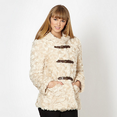 Red Herring - Cream faux fur duffle coat