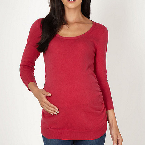 Red Herring Maternity - Dark pink scoop maternity jumper