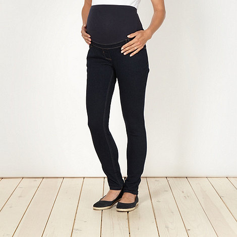 Red Herring Maternity - Blue over the bump maternity skinny jeans
