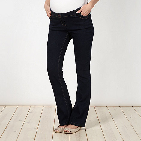 Red Herring Maternity - Online exclusive blue bootcut maternity jeans