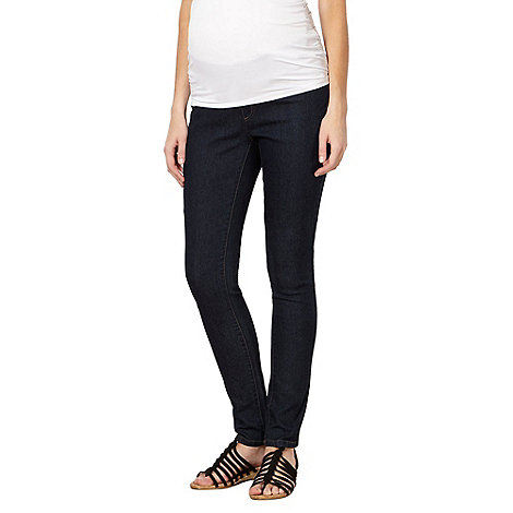 Red Herring Maternity - Blue under-over the bump maternity jeggings