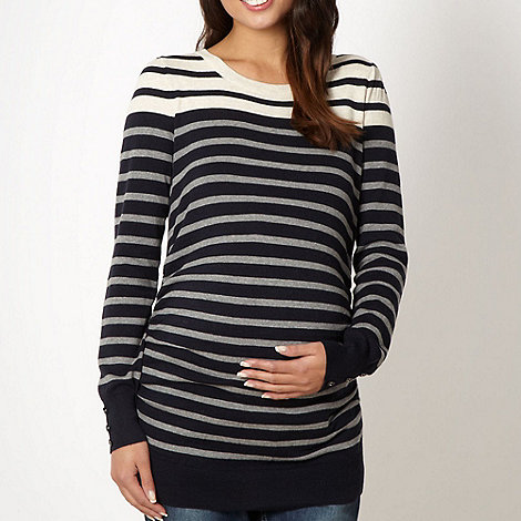 Red Herring Maternity - Navy striped maternity jumper