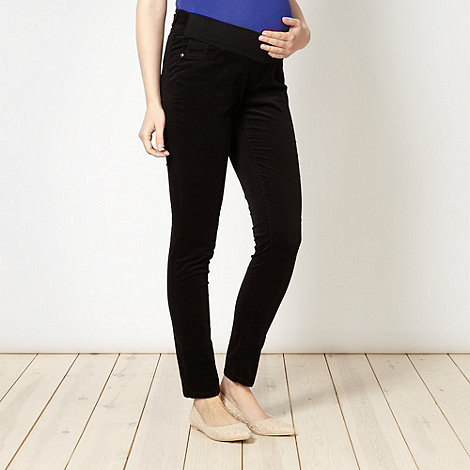 Red Herring Maternity - Black skinny cord maternity trousers