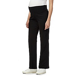 Red Herring Maternity - Online exclusive black lounge maternity jogging bottoms